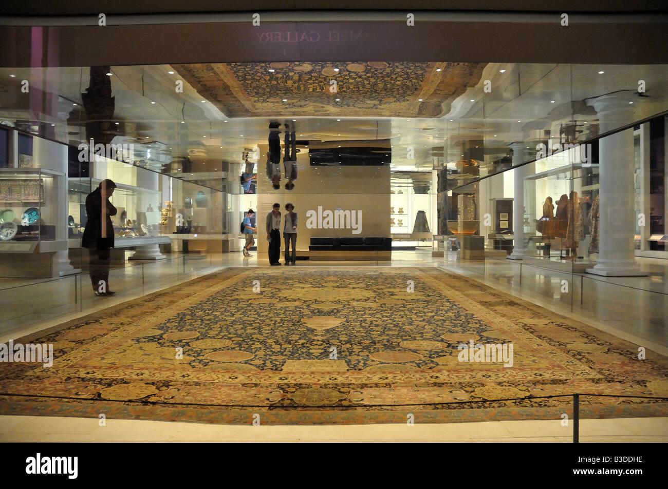 Il tappeto Ardabil presso il Victoria & Albert Museum Foto Stock