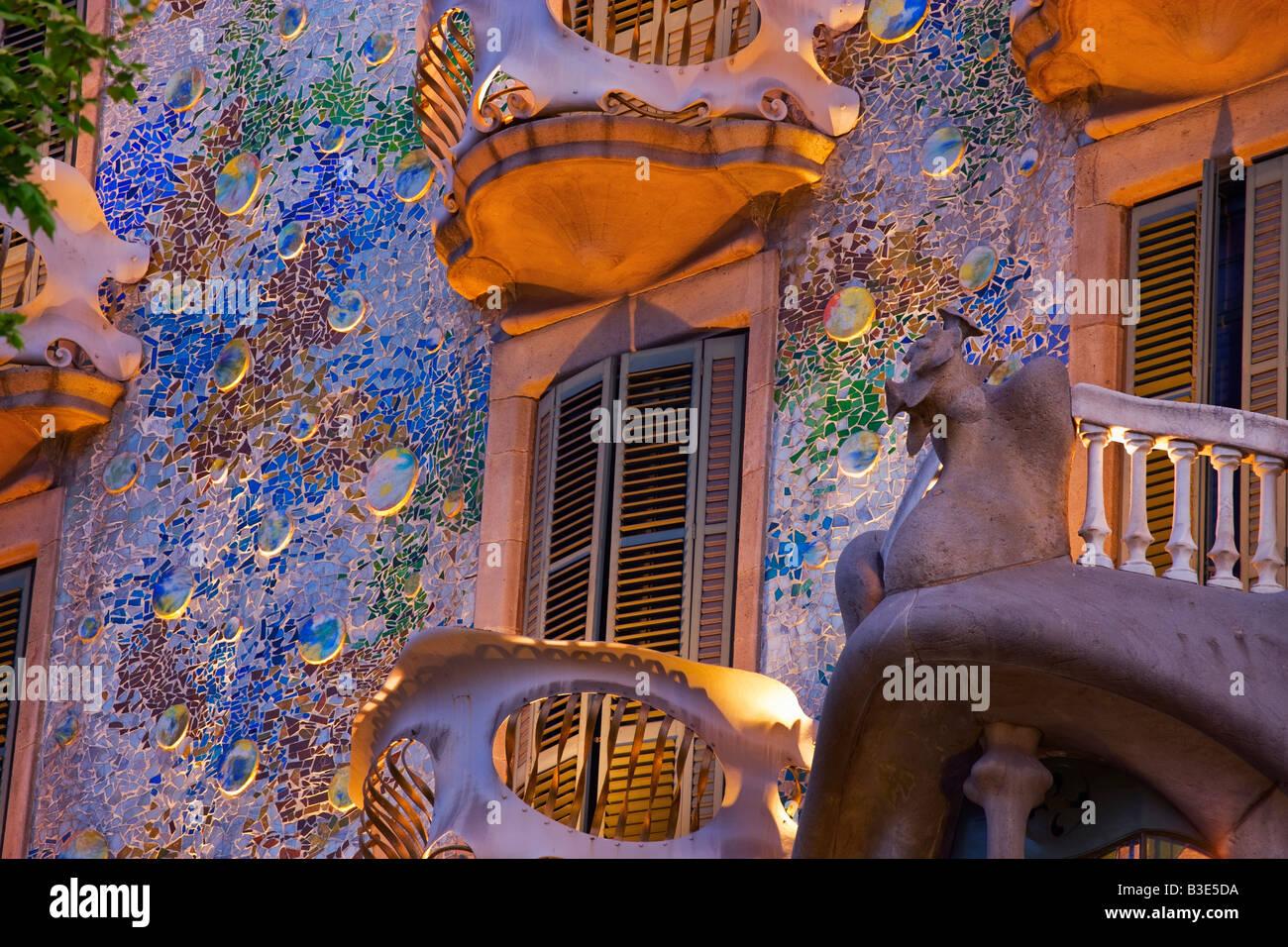 Casa Batllo Barcellona Catalonia Spagna Immagini Stock