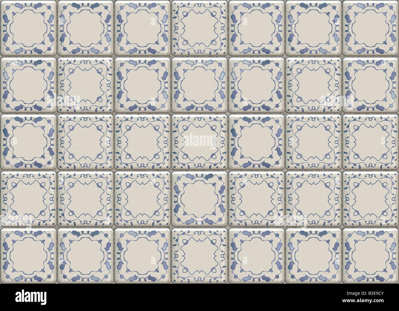 Decorativo pavimento decorato a parete modellato di pattern di ...