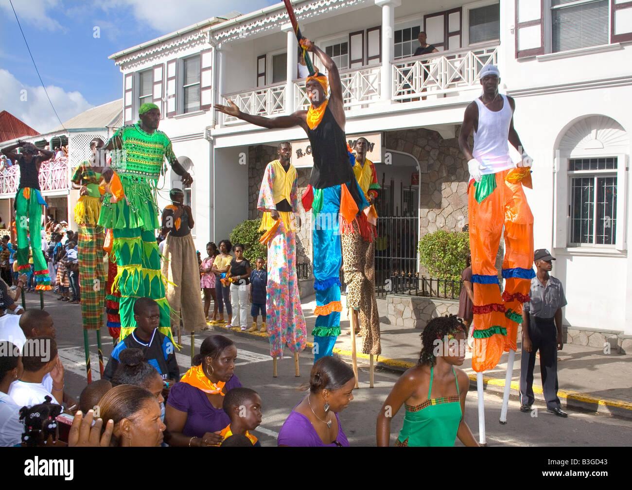 Il Culturama carnevale estivo a Nevis nei Caraibi Immagini Stock