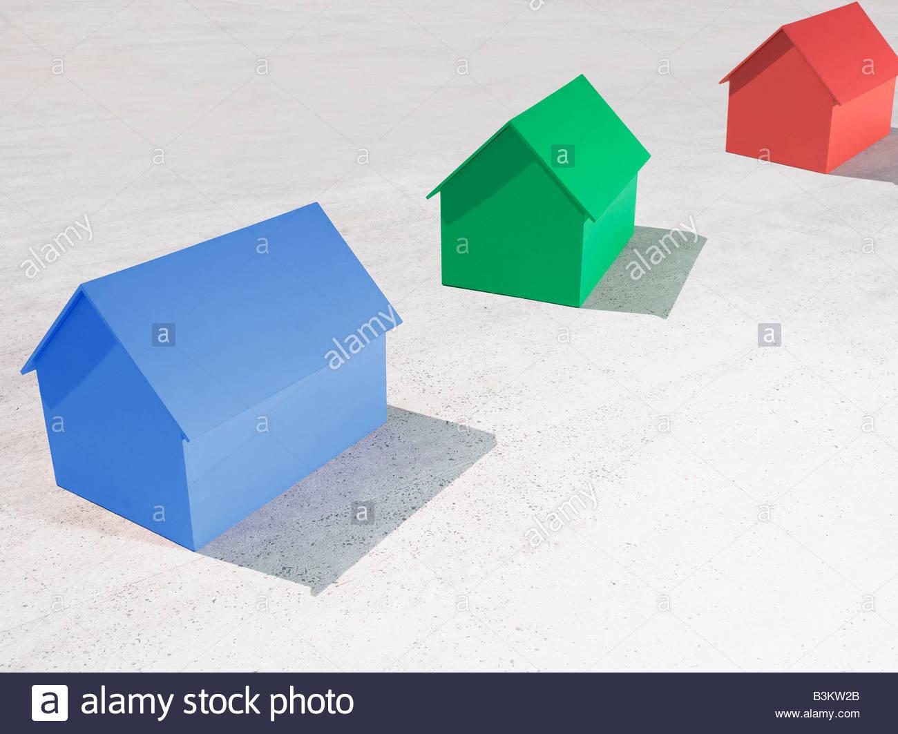 Piccole case di modello Immagini Stock
