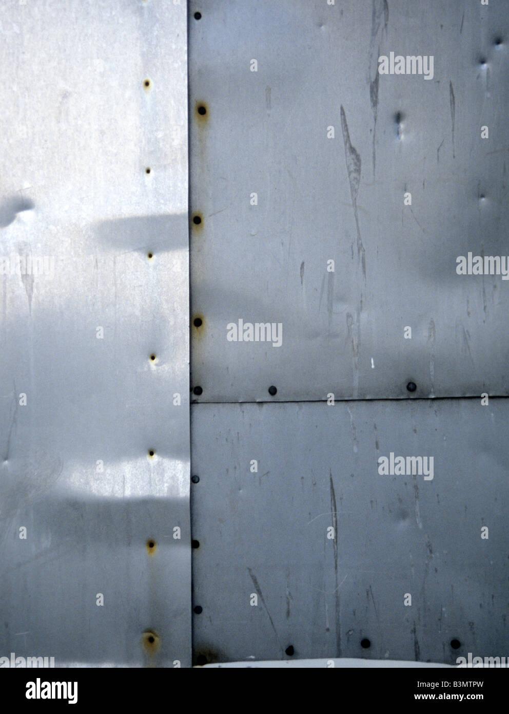 Una piastra di metallo, frame completo Immagini Stock