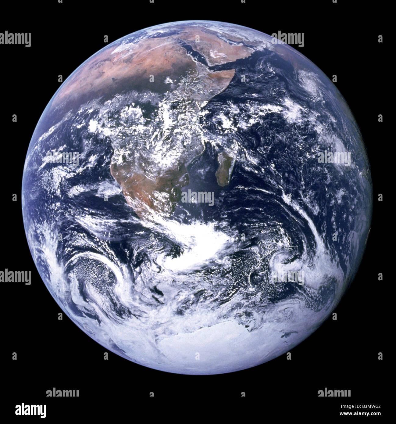"""Messa a terra, il pianeta Terra """"visto dallo spazio"""" Immagini Stock"""