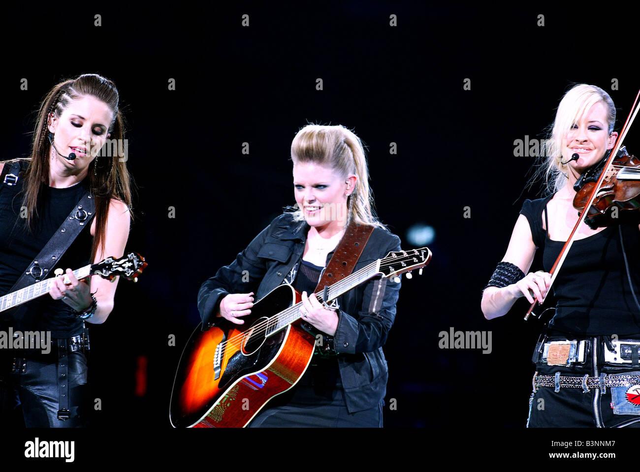 I pulcini di Dixie noi girl gruppo Paese nel 2003 Immagini Stock