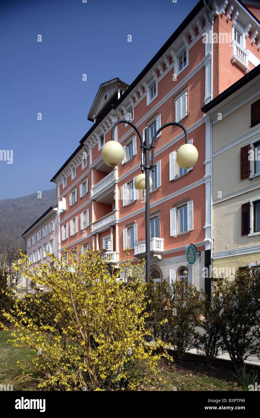 Edificio in stile Liberty, Levico, Trentino Alto Adige, Italia Immagini Stock
