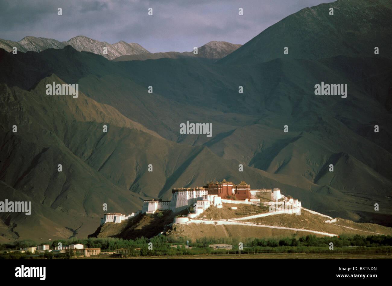 Il Tibet, Lhasa. Palazzo del Potala. Immagini Stock