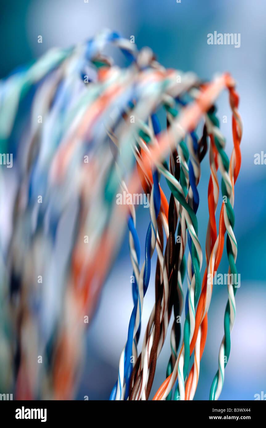 Colori dei cavi dati Immagini Stock