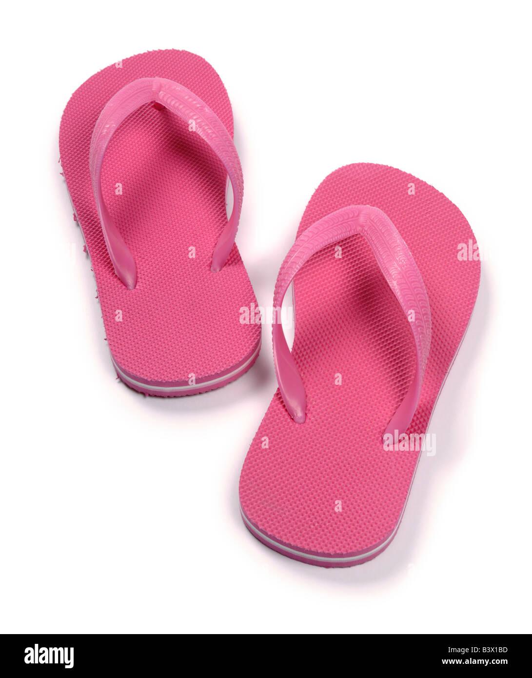 Infradito rosa Foto Stock