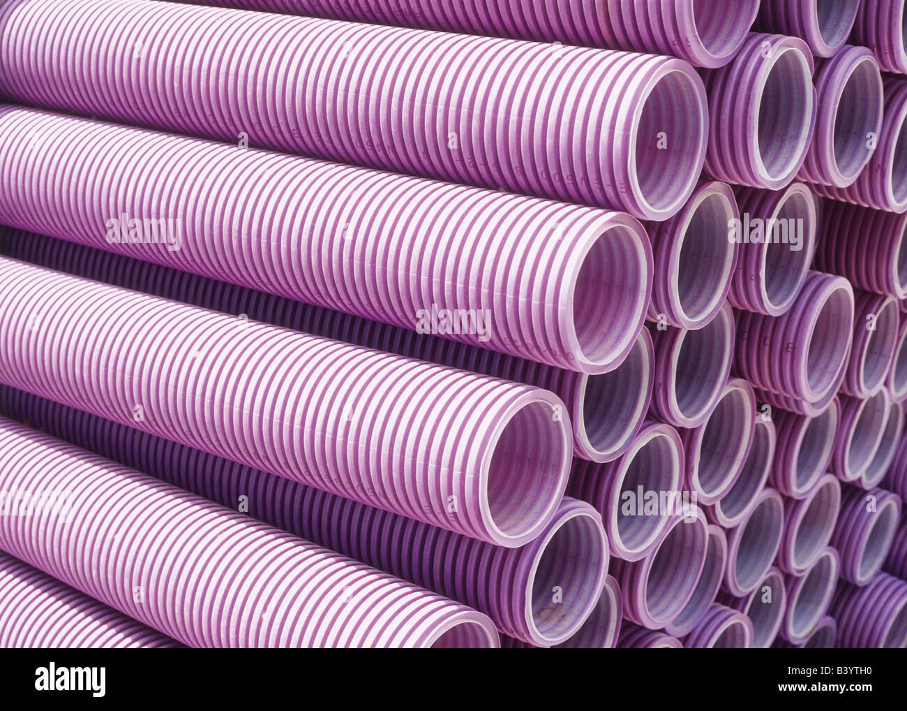 Pila di tubi Foto Stock