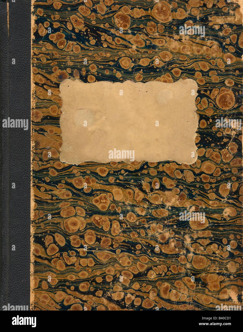 Coperchio del vecchio libro scritto a mano Immagini Stock