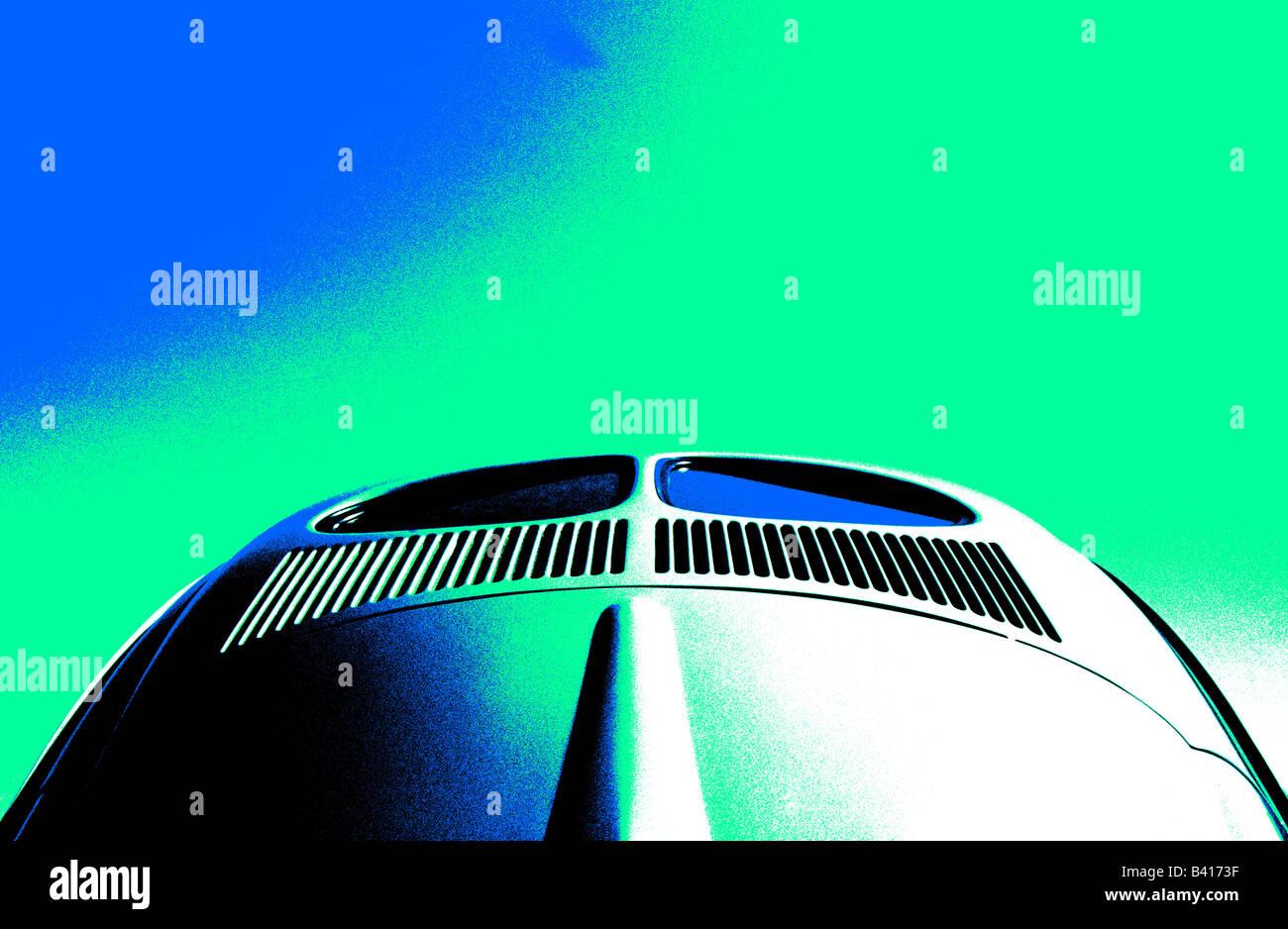 Volkswagen maggiolino. car auto arte classica abstract Immagini Stock