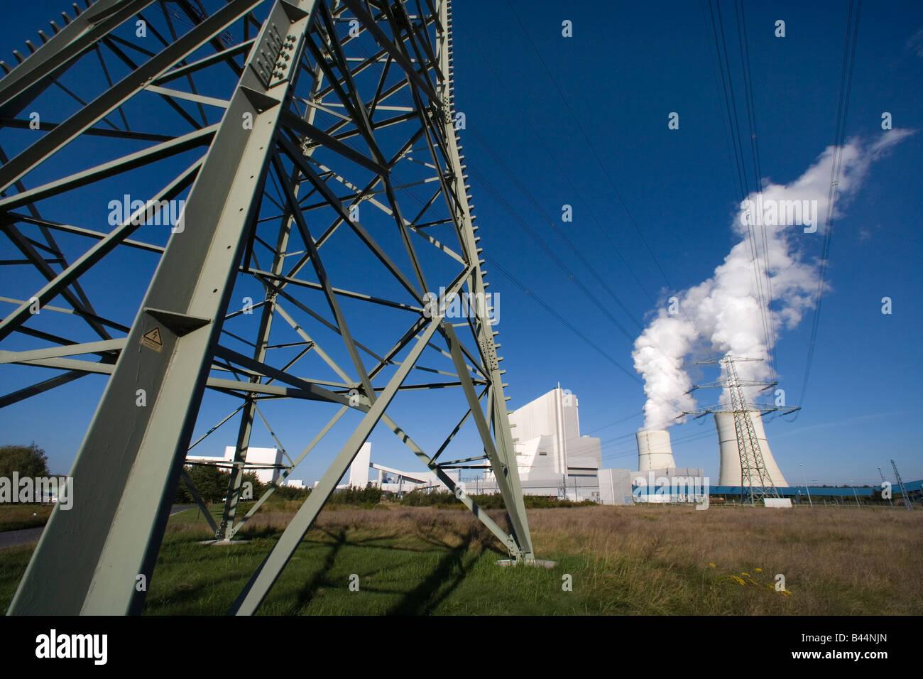 Primo brown centrali a carbone vegetale in worldwith anidride carbonica la separazione tramite tecnologie CCS cattura Immagini Stock