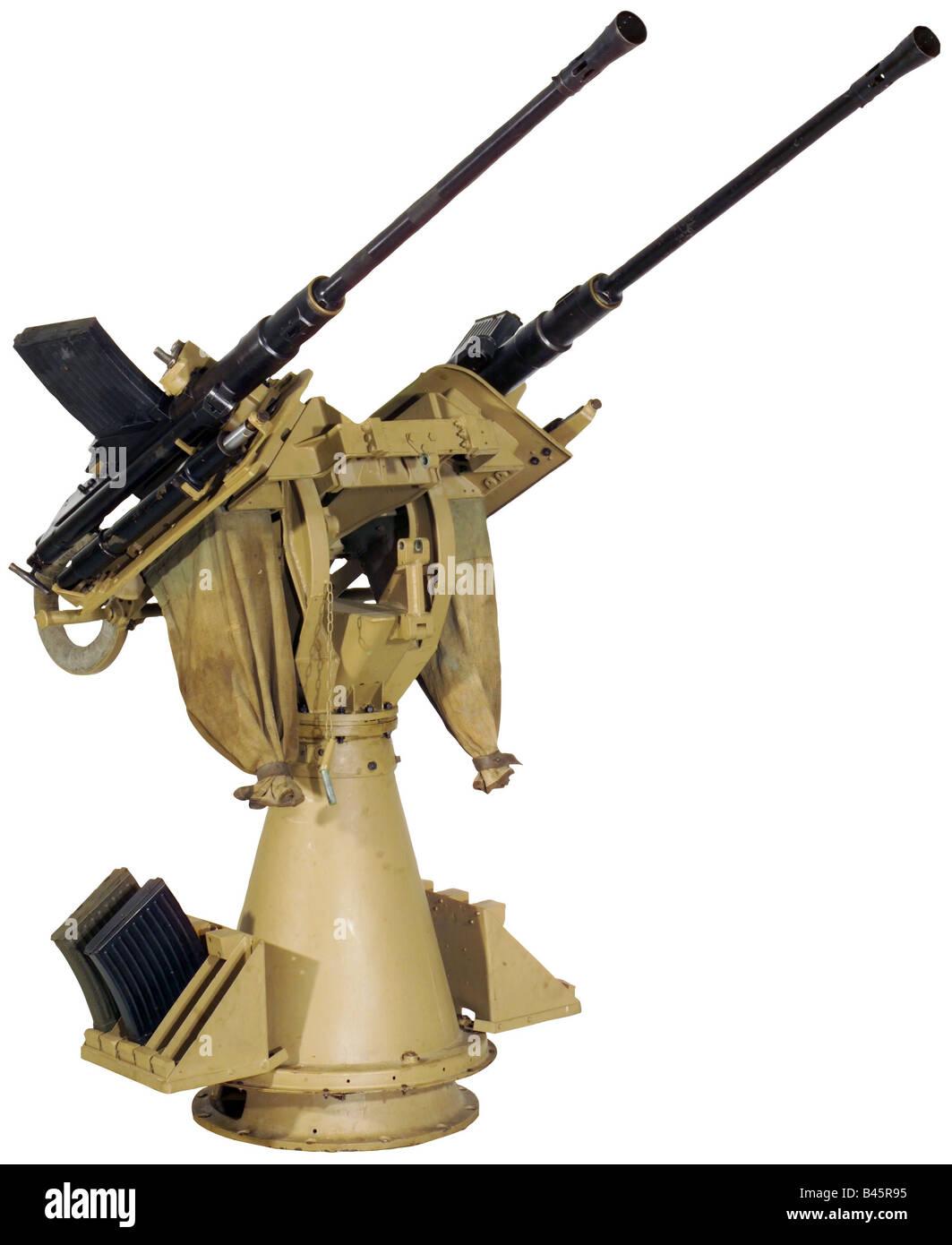 Armi/armi, armi da fuoco, 2 cm twin anti-aerei pistola, fabbricati dalla società Maschinenfabrik Willy Hiller, Immagini Stock