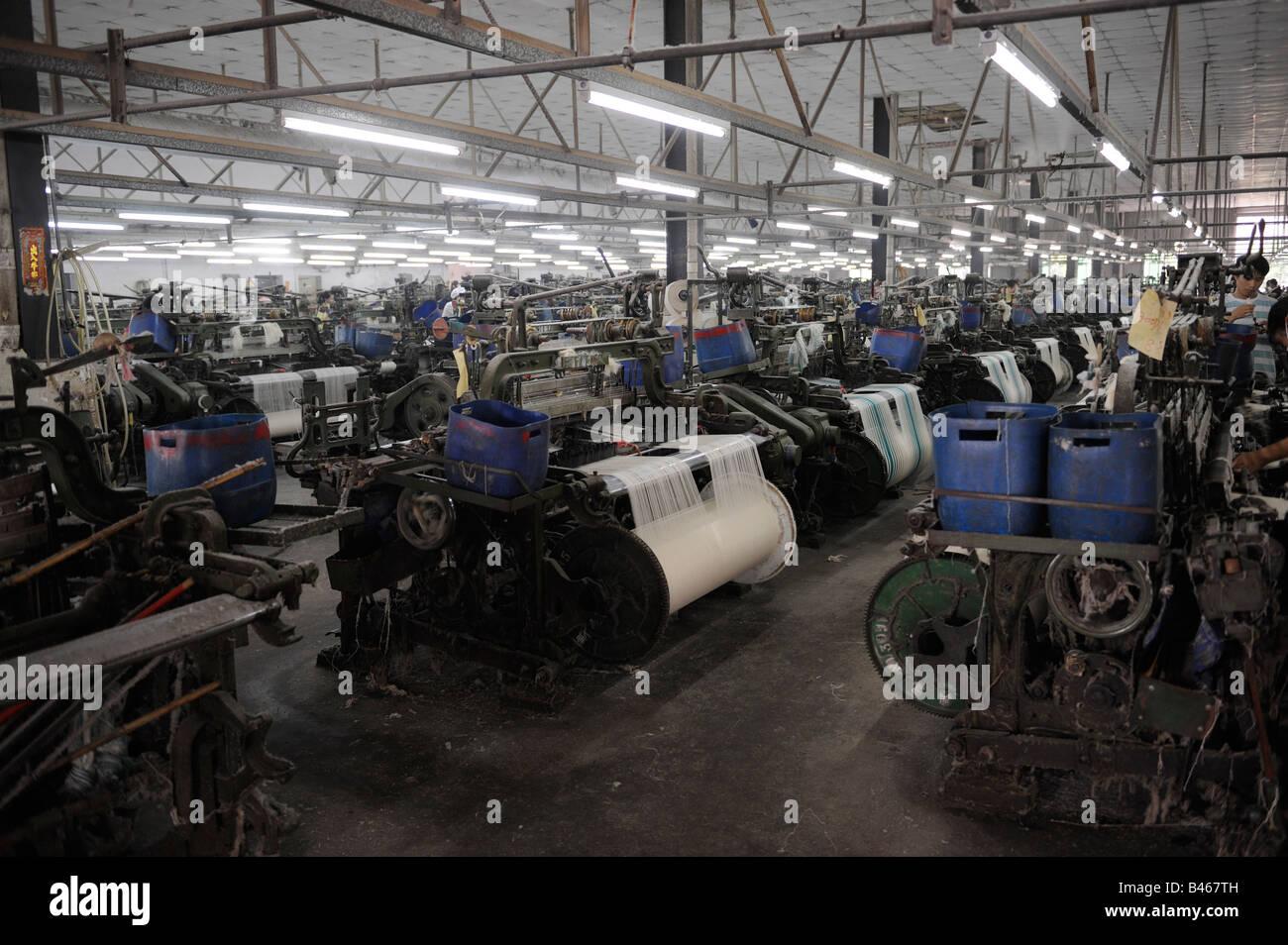 Una fabbrica tessile in Dongguan, Guangdong, Cina. 19-set-2008 Immagini Stock