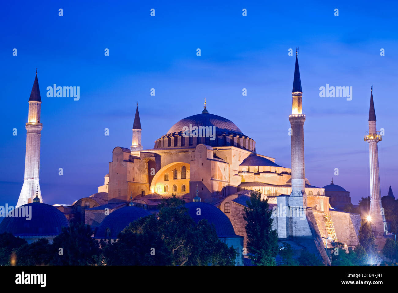 La Turchia vista su Istanbul di Hagia Sophia Mosque Immagini Stock