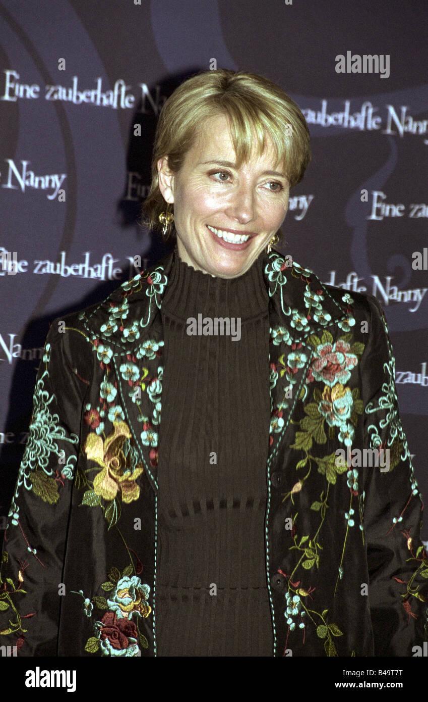 Thompson, Emma, * 15.4.1959, attrice britannica, a mezza lunghezza e photocall film 'Nanny McPhee', Berlino, Immagini Stock