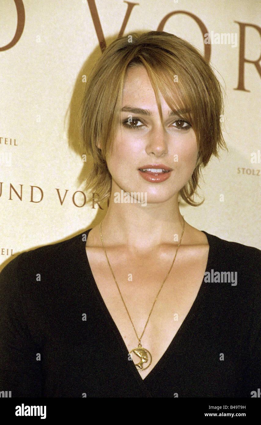 """Knightley, Keira, * 26.3.1985, l'attrice britannica, ritratto, photocall, film 'l'Orgoglio e Pregiudizio"""", Immagini Stock"""