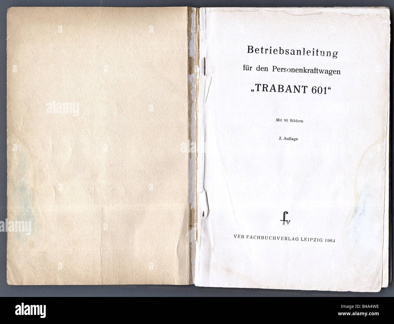 Trasporto/ trasporto, automobili, Germania, Trabant 601, istruzione manualof VEB Sachsenring Automobilwerke Zwickau, Immagini Stock