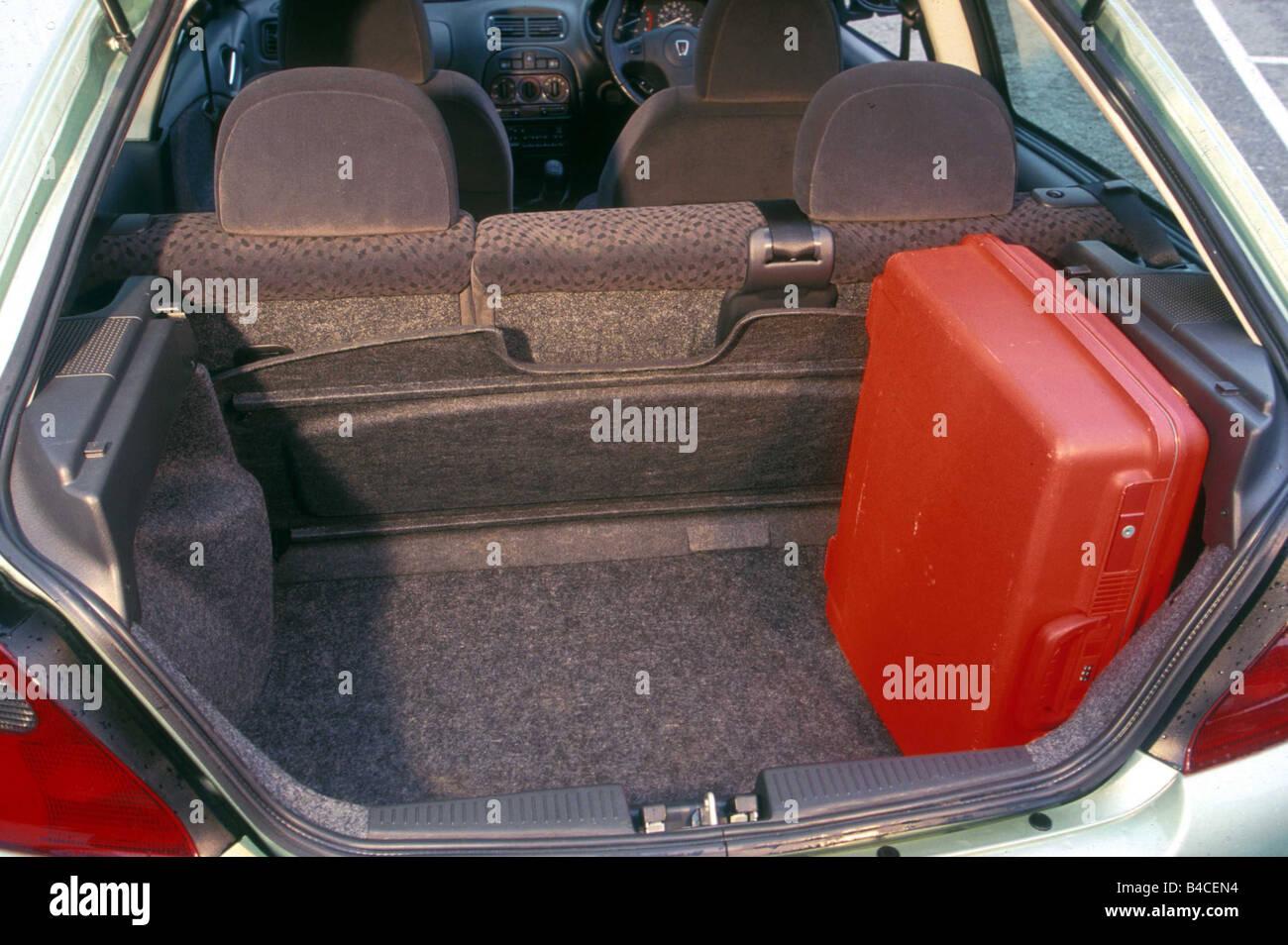 Auto, Rover 25 2.0 iDT, Limousine, piccolo circa, modello anno 2000-, luce verde-metallico, vista in boot, tecnica/accessorio, Immagini Stock