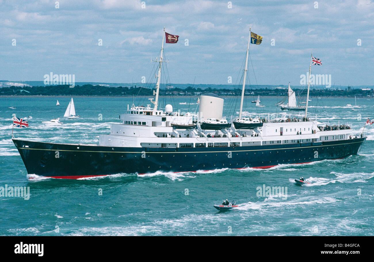 Il Royal Yacht Britannia Solent Inghilterra Immagini Stock