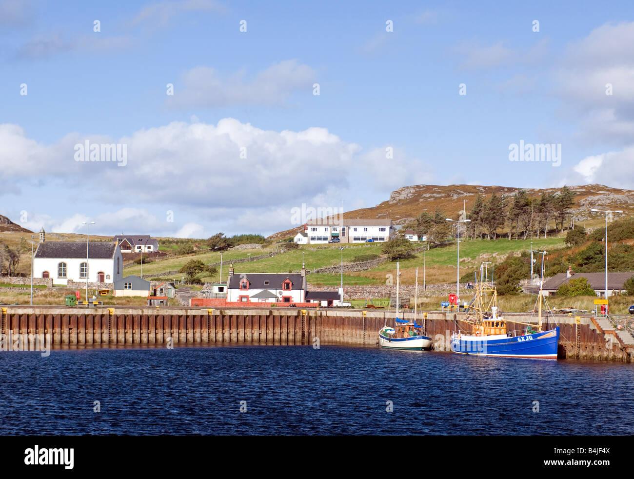 Kinlochbervie Sutherland Nord Ovest Highlands scozzesi UK Foto Stock