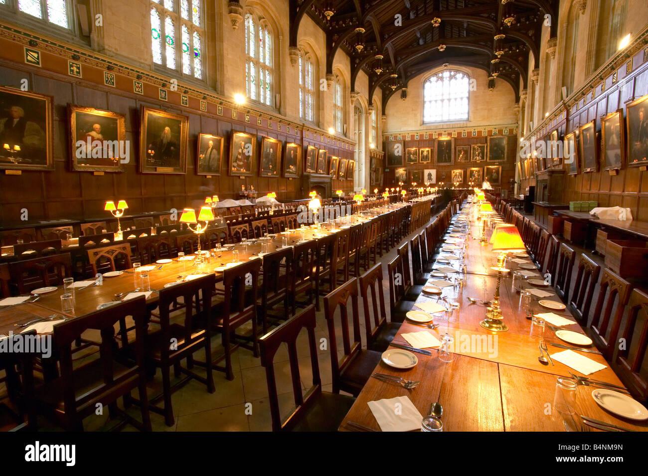 La Grande Hall O Nella Sala Da Pranzo Al Christ Church College Di Oxford University Foto Stock Alamy