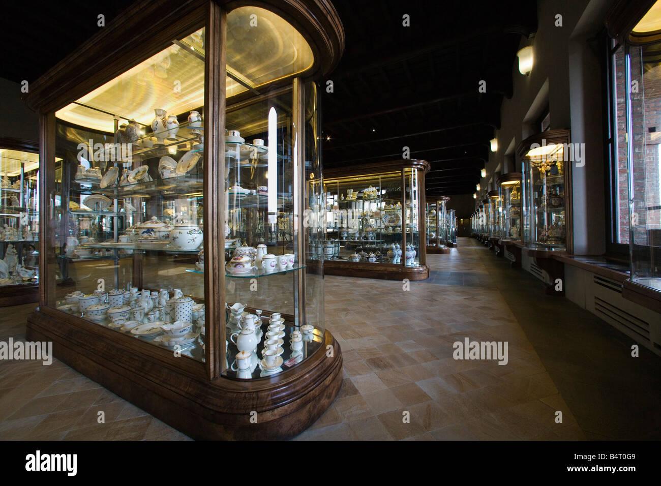 Secondo piano dedicato alle arti decorative Sala Vetri e avori Palazzo Madama Torino Piemonte Italia Immagini Stock