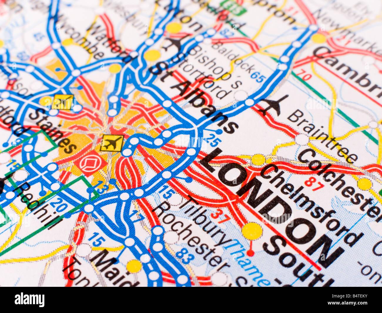 Cartina Geografica Londra E Dintorni.Mappa Stradale Di Londra Immagini Mappa Stradale Di Londra Fotos