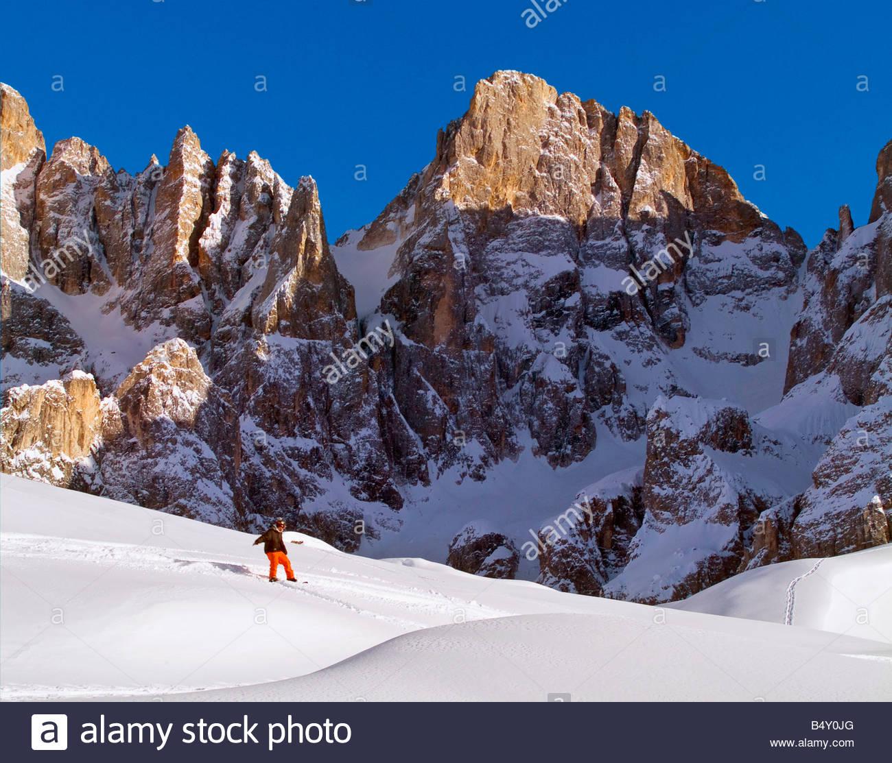 Europa,l'Italia,Trentino Dolomiti,,PASSO ROLLE,pale di san martino Foto Stock