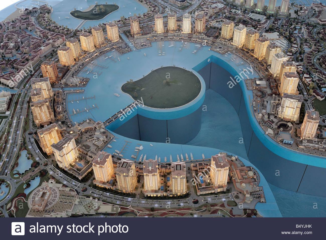 Il modello del futuro di doha, Qatar, medio oriente Immagini Stock