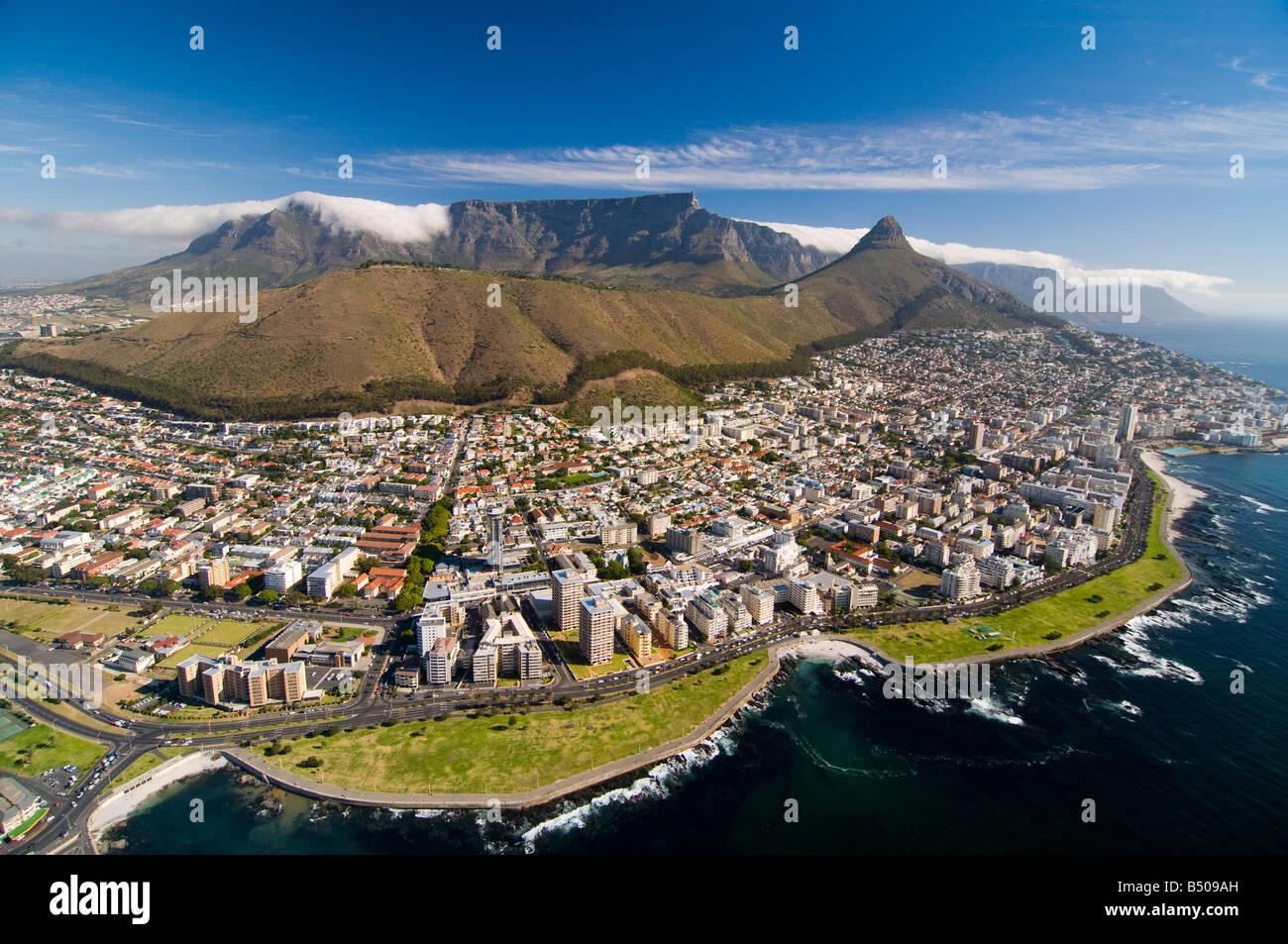 La Table Mountain e Cape Town, Western Cape, Sud Africa Immagini Stock