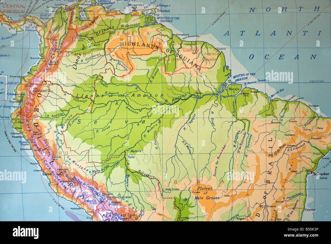 Cartina Mondo Amazon