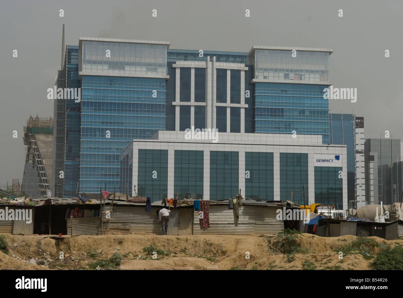 DLF edificio in Gurgaon, New Delhi CBD. Immagini Stock