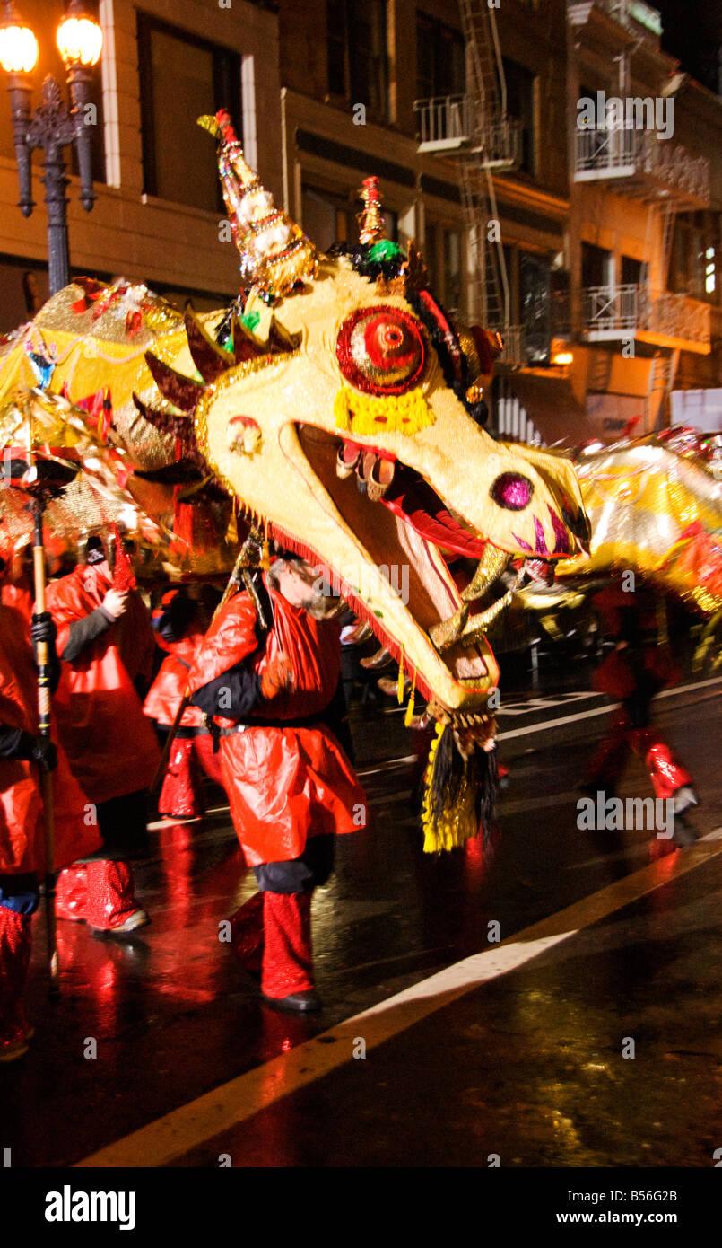 California San Francisco un drago nel nuovo anno cinese Parade Foto 29 casanf77762 Foto Lee Foster 2008 Foto Stock