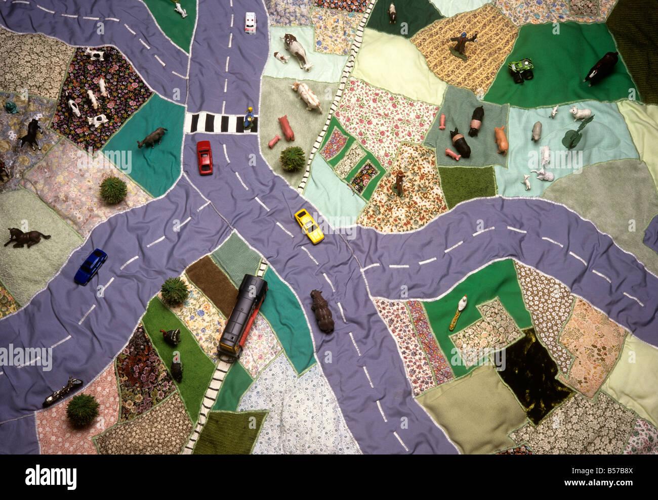 Artigianato applique per bambini mappa toy tappetino di gioco foto