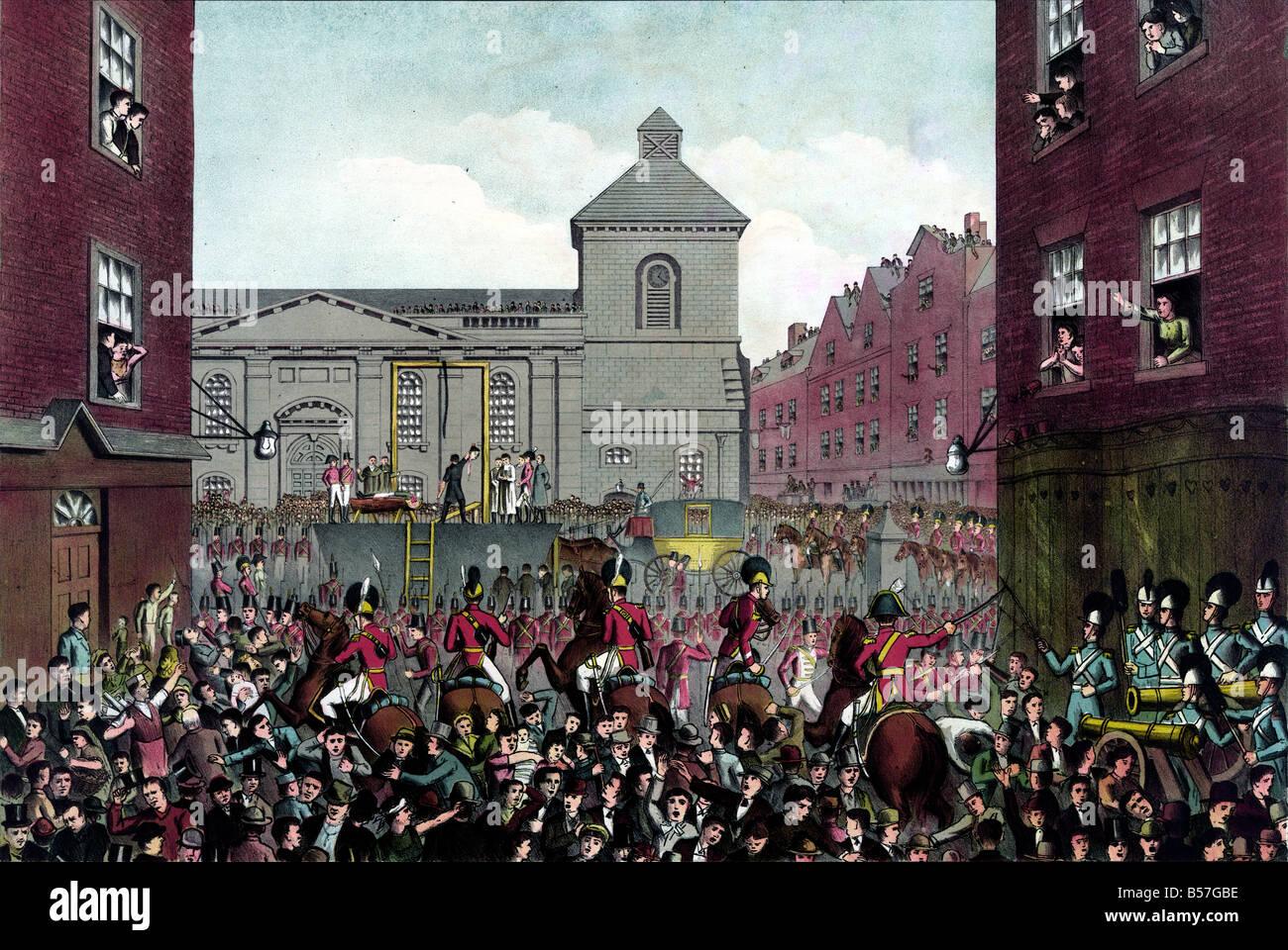 Esecuzione di Dublino di robert emmet Immagini Stock