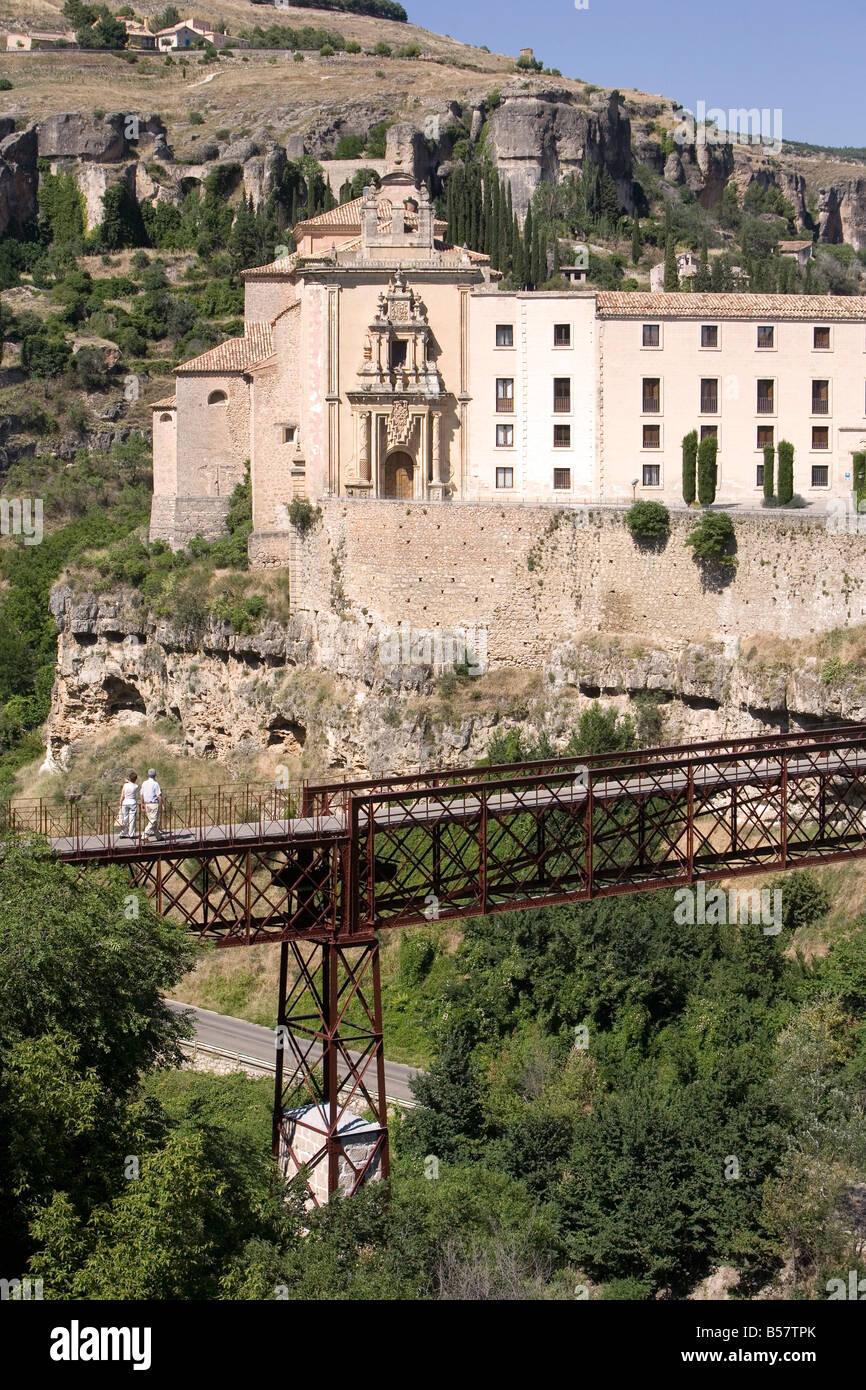 Convento de San Pablo ora un Parador de Turismo, Cuenca, Castilla-La Mancha, in Spagna, Europa Immagini Stock