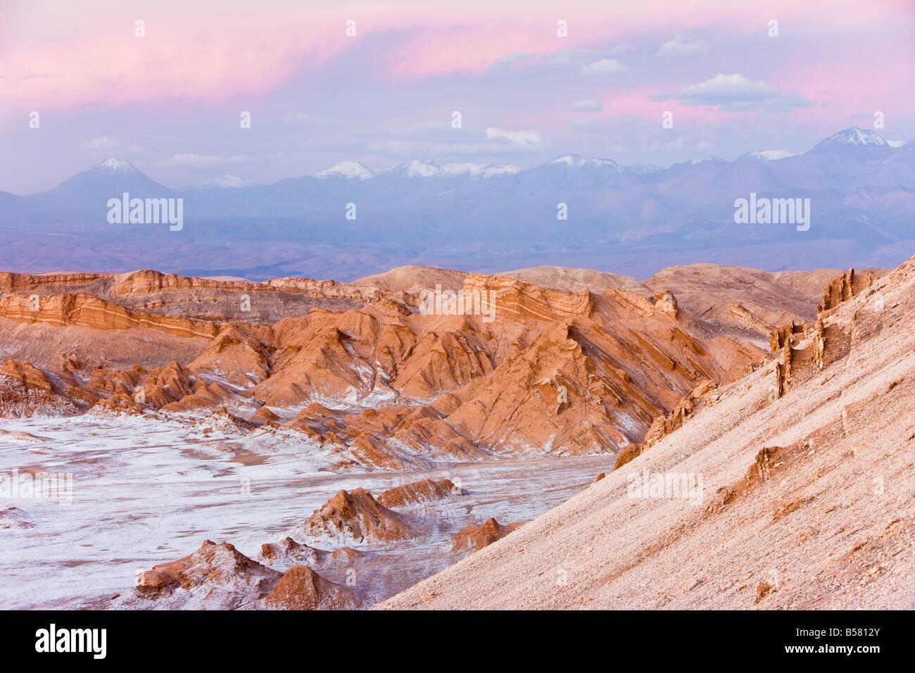 Valle de la Luna (a valle della luna), il Deserto di Atacama, Norte Grande, Cile, Sud America Immagini Stock