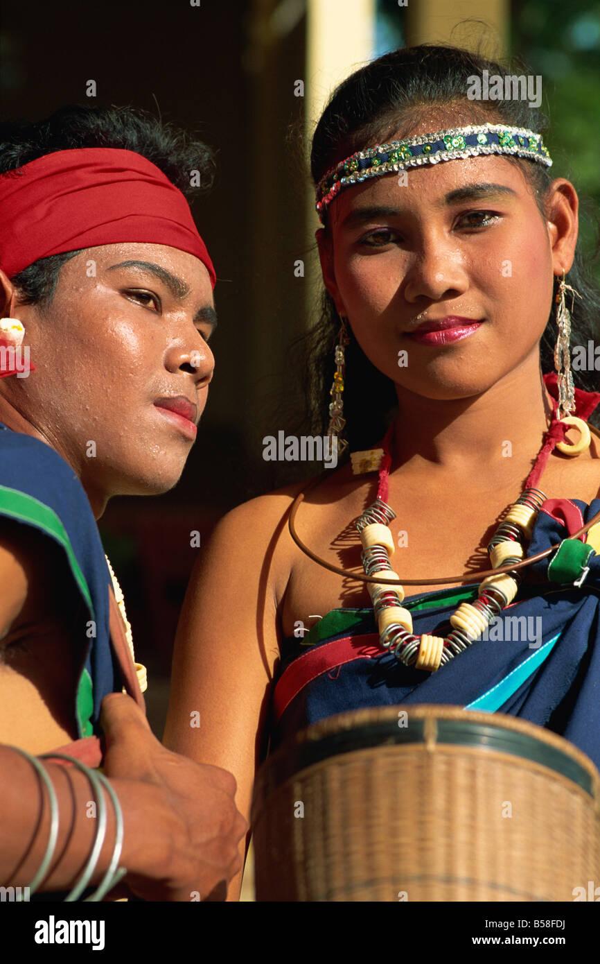 La minoranza etnica ballerini Cambogia Indocina Asia del sud-est asiatico Immagini Stock