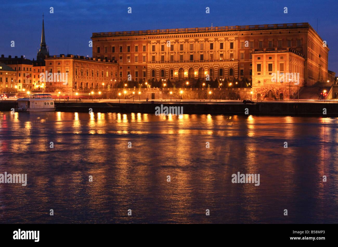 Kungliga Slottet il Palazzo Reale di Stoccolma Svezia Immagini Stock
