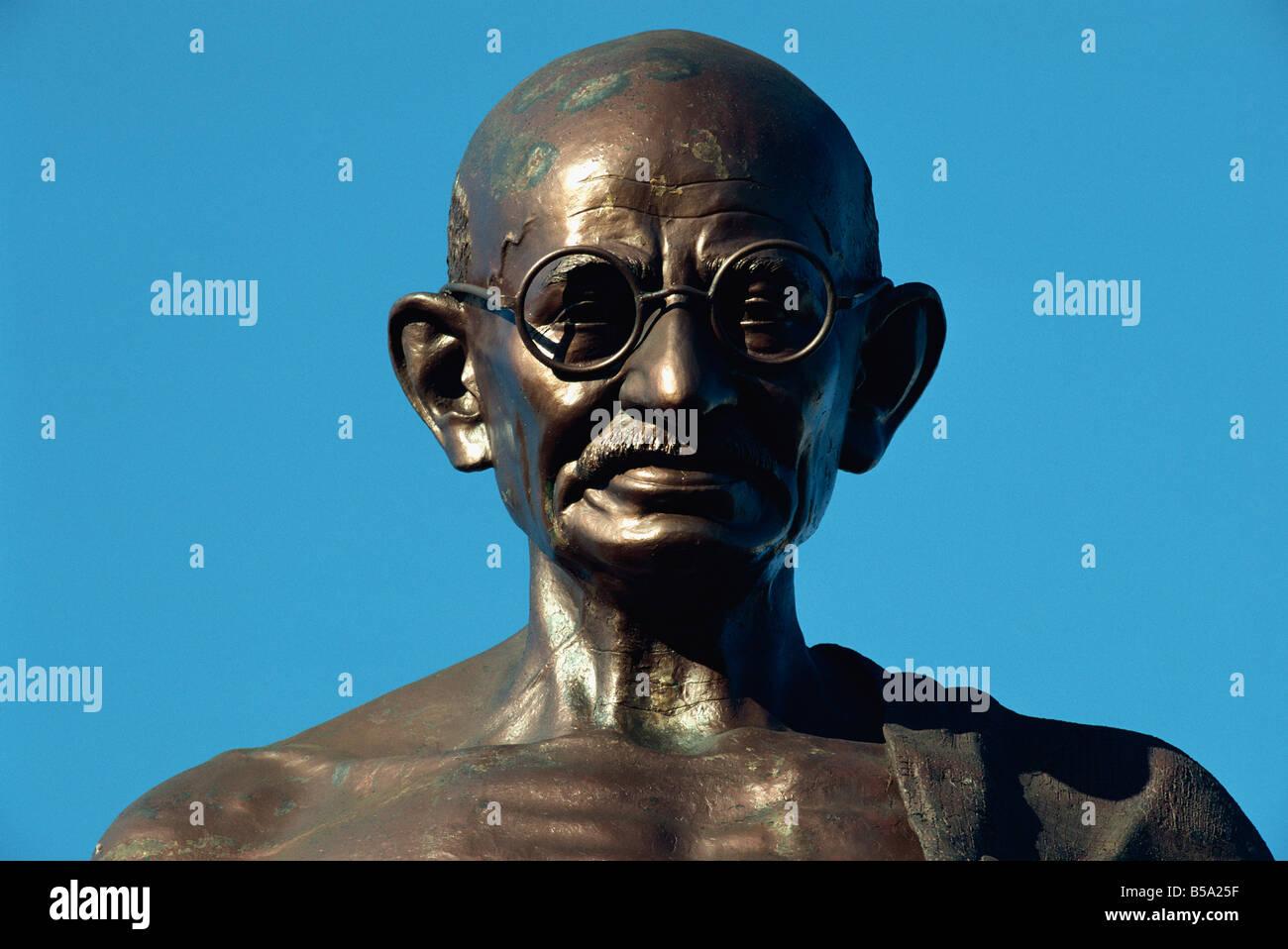 Statua del Mahatma Gandhi Mumbai India Asia Immagini Stock