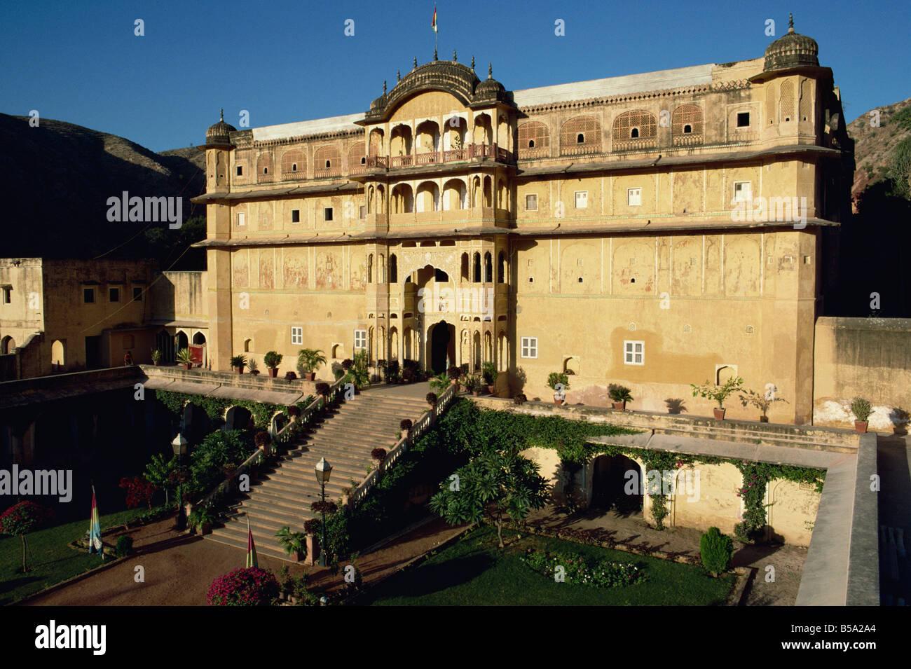 Il Rajput Samode Palace ora un hotel vicino a Jaipur Rajasthan India Asia Immagini Stock