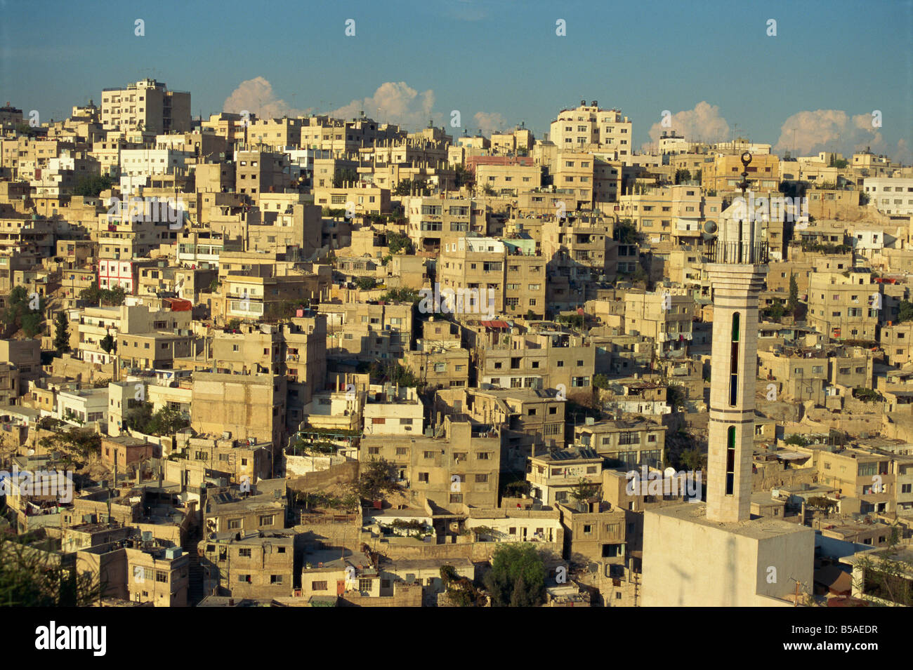 Veduta aerea di Jebel Alqala'a, Amman, Giordania, Medio Oriente Immagini Stock