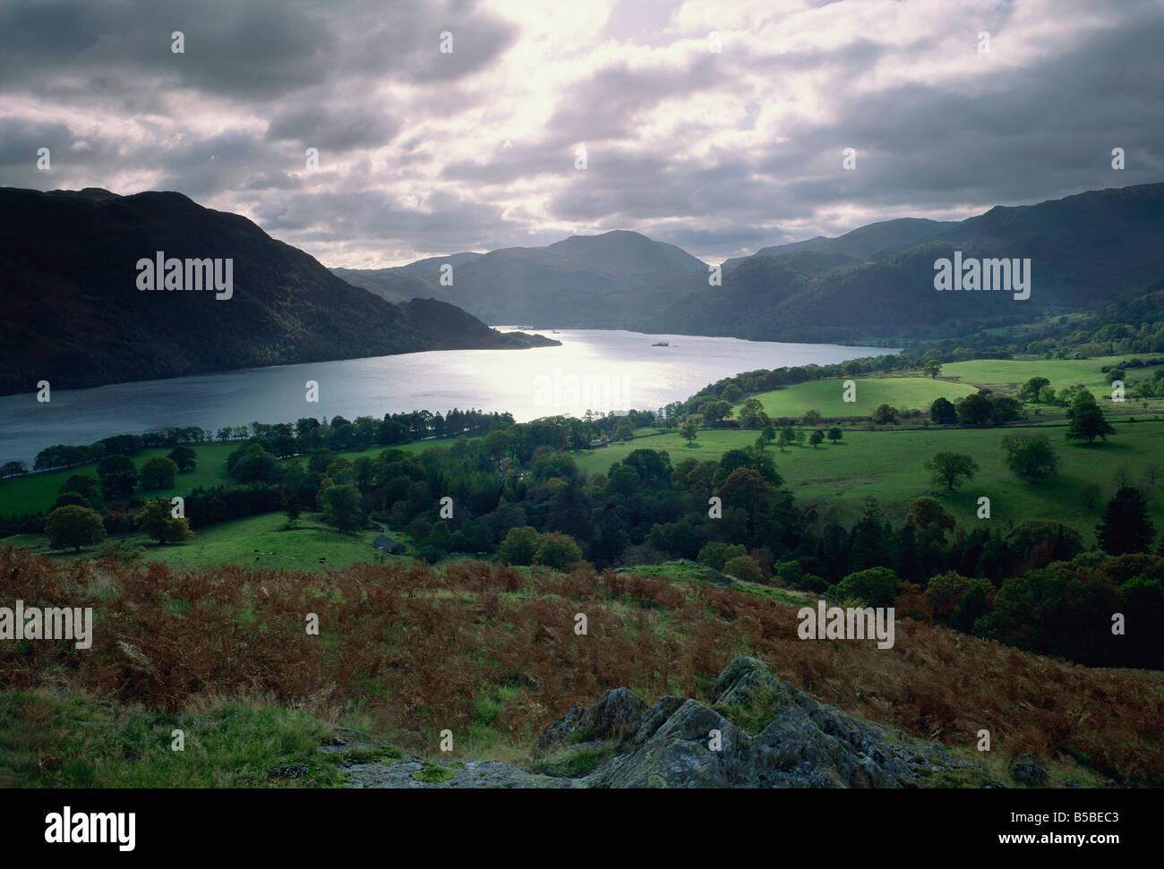 Ullswater, Parco Nazionale del Distretto dei Laghi, Cumbria, Inghilterra, Europa Foto Stock