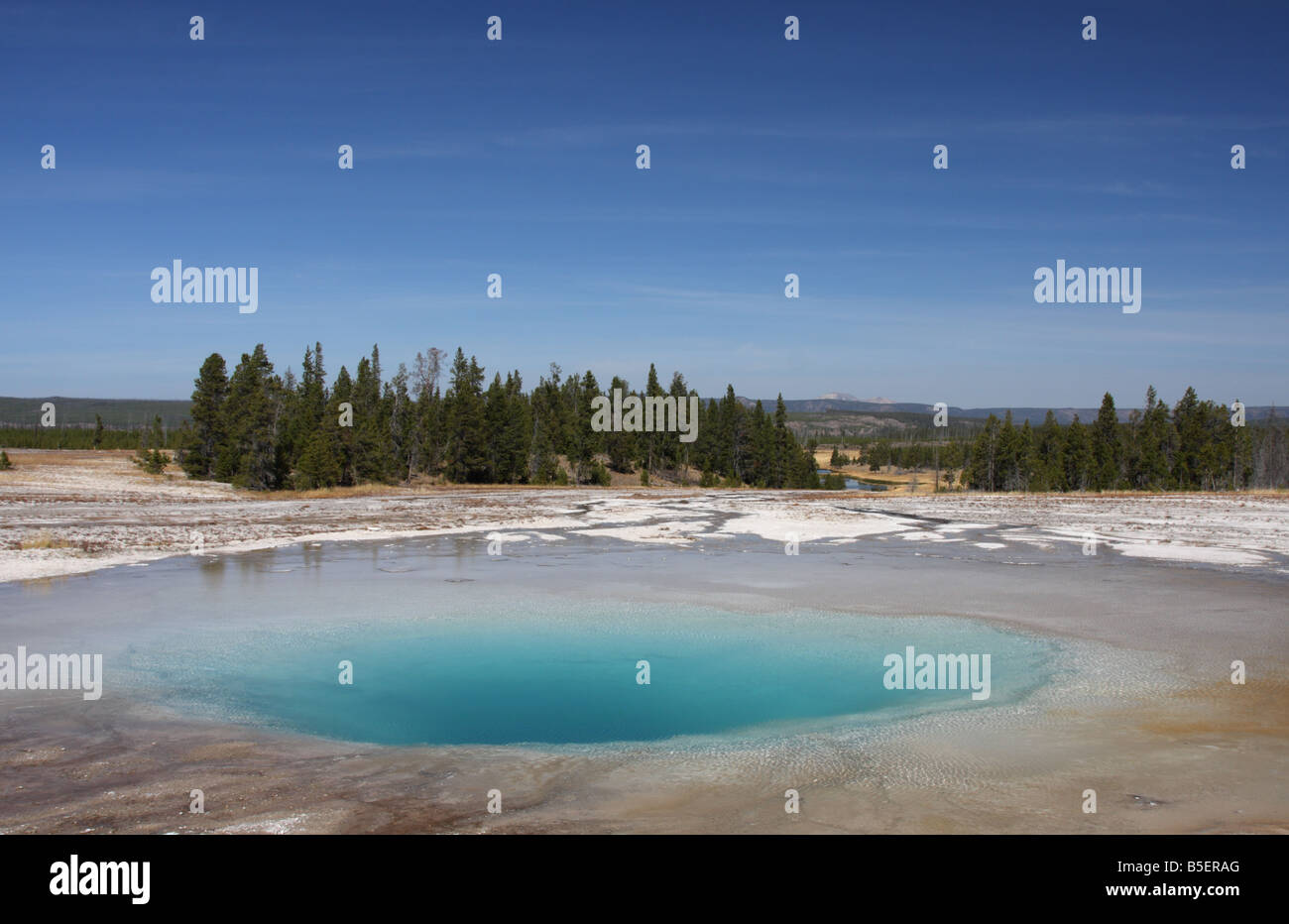 Pool di opale, Midway Geyser Basin, il Parco Nazionale di Yellowstone Foto Stock