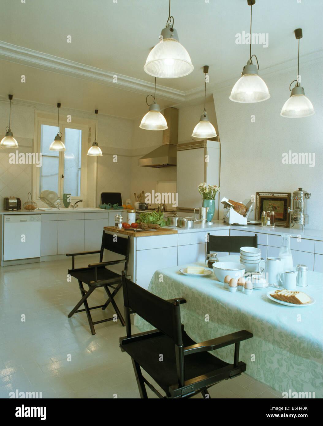 Pendente in vetro luci nella cucina moderna sala da pranzo ...