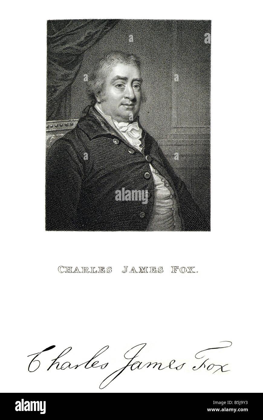 Charles James Fox il diritto agli onorevoli Charles James Fox (24 gennaio 1749 - 13 settembre 1806) era un prominente Immagini Stock
