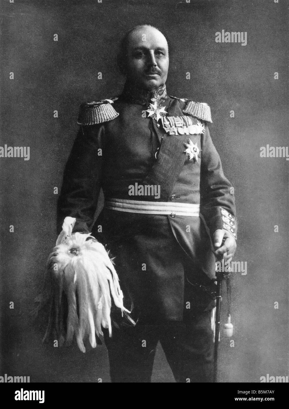 1 K51 B1910 e Alexander von Kluck foto c 1910 Kluck Alexander von colonnello prussiano il colonnello generale 1913 Immagini Stock