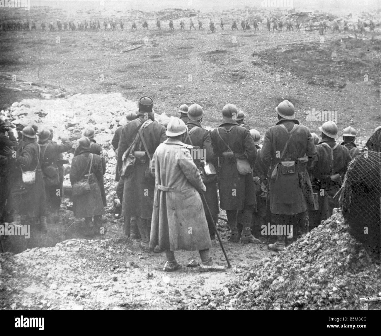 2 G55 F1 1916 19 WWI senegalesi truppe ausiliari storia WWI Francia battaglia per la fortezza di serbatoio Thiaumont Immagini Stock