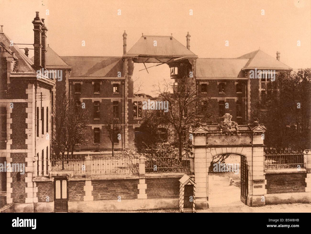 2 G55 F1 1918 19 WW1 Laon Liceo Foto Storia La Prima guerra mondiale la Francia come il francese ha distrutto la Immagini Stock